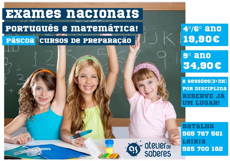 Preparamos cursos de apoio ao Português e Matemática, especificamente para os alunos do 4º ,6º e 9º ano.